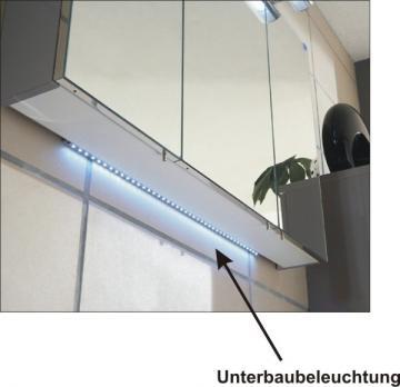 Marlin Bad 3030 - Christall | Spiegelschrank Unterbauleuchte 110 cm