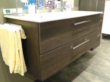 Marlin Bad 3030 - Christall Waschtischunterschrank A 100 cm + 2 Auszüge