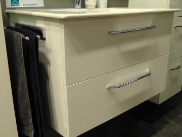 Marlin Bad 3030 - Christall Waschtischunterschrank A 80 cm + 2 Auszüge