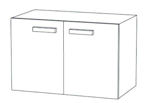 christall waschtischunterschrank b 100 cm kaufen. Black Bedroom Furniture Sets. Home Design Ideas