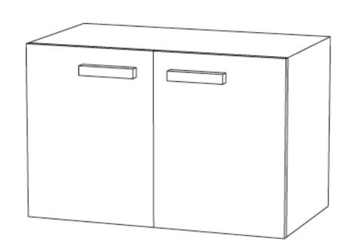 christall waschtischunterschrank b 100 cm kaufen arcom center. Black Bedroom Furniture Sets. Home Design Ideas