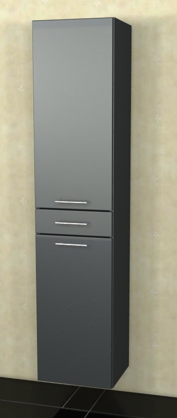 Marlin Bad 3040 - City plus Badmöbel | Hochschrank 2 Türen + 1 Auszug 40 cm