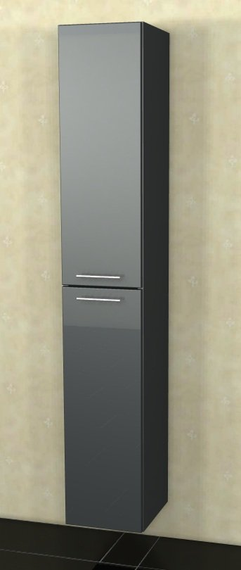 Marlin Bad 3040 - City plus Badmöbel | Hochschrank 2 Türen 30 cm