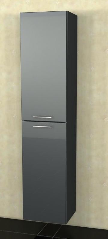 Marlin Bad 3040 - City plus Badmöbel | Hochschrank 2 Türen (Tiefe 17,6 cm) 40 cm