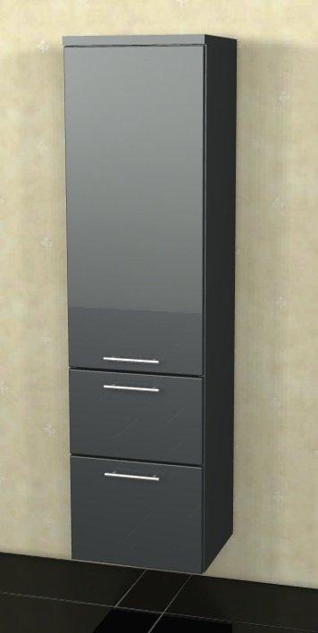 Marlin Bad 3040 - City plus Badmöbel | Mittelschrank 1 Tür + 2 Auszüge 40 cm
