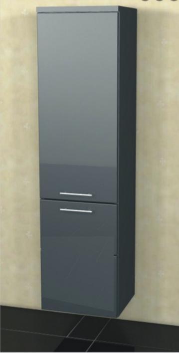 Marlin Bad 3040 - City plus Badmöbel | Mittelschrank + 2 Türen 30 cm