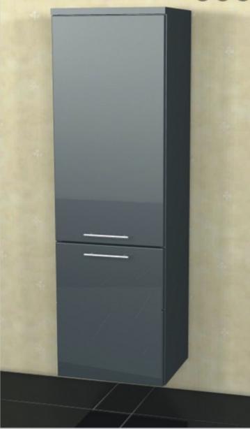 Marlin Bad 3040 - City plus Badmöbel | Mittelschrank + 2 Türen 40 cm