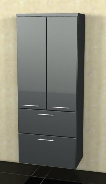 Marlin Bad 3040 - City plus Badmöbel | Mittelschrank 2 Türen + 2 Auszüge 60 cm