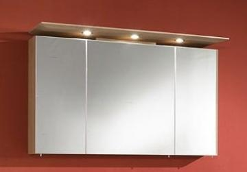 Marlin Bad 3040 - City plus Spiegelschrank A + LED Spot + gerader Oberboden 120 cm