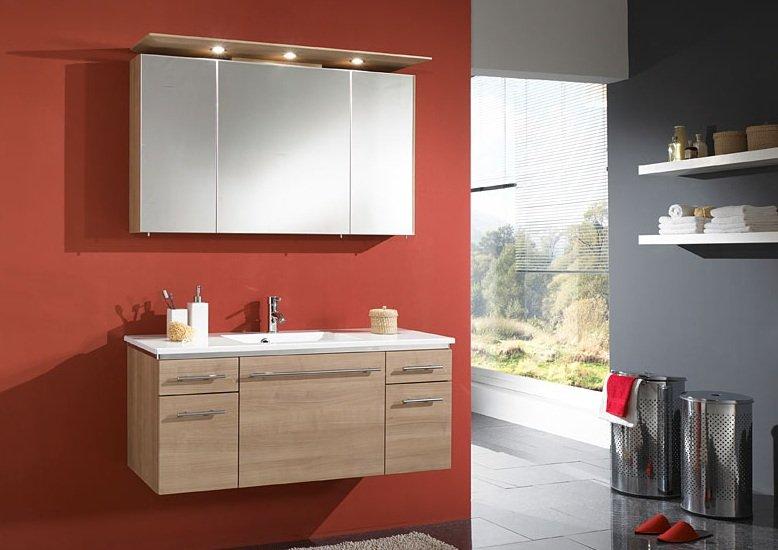 marlin bad 3040 city plus spiegelschrank a led spot gerader oberboden 120 cm. Black Bedroom Furniture Sets. Home Design Ideas