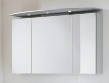 Marlin Bad 3040 - City plus Spiegelschrank B | LED Leuchten | Runder Oberboden 120 cm