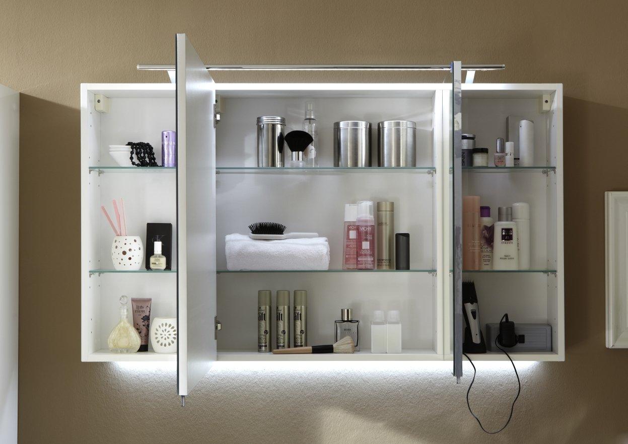 marlin bad 3040 city plus spiegelschrank c led beleuchtung ll94 120 cm. Black Bedroom Furniture Sets. Home Design Ideas
