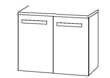 Marlin Bad 3090 - COSMO WT-Unterschrank 2 Türen 60 cm