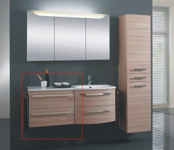 marlin bad 3090 cosmo wt unterschrank 60 cm gerade mit 2 ausz gen. Black Bedroom Furniture Sets. Home Design Ideas