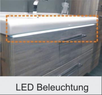 Marlin Bad 3020 - Life | LED-Leiste 80 cm für Mineralmarmor Waschtisch