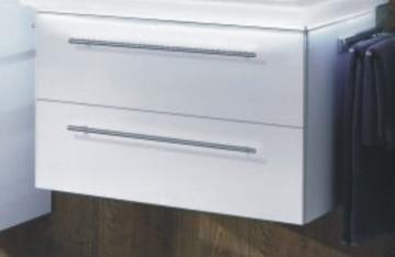 Marlin Bad 3020 - Life Waschtischunterschrank 80 cm | 2 Auszügen für Mineralmarmor Waschtisch