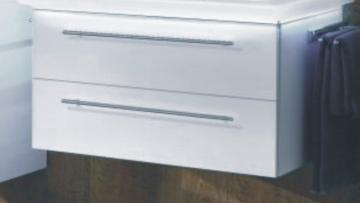 Marlin Bad 3020 - Life Waschtischunterschrank 100 cm | 2 Auszügen für Mineralmarmor Waschtisch