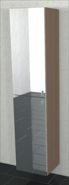 Marlin Bad 3160 - Motion Hochschrank 40 cm mit 2 Spiegeltüren nur 17,6 cm tief