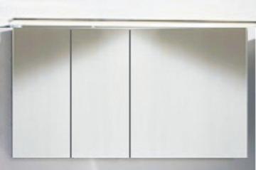 Marlin Bad 3160 - Motion Spiegelschrank A 120 cm Links mit 3 Türen + Aufsatzleuchte