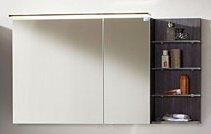 Marlin Bad 3160 - Motion Spiegelschrank A 120 cm mit Regal Rechts + Aufsatzleuchte