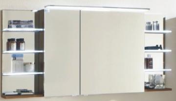 Marlin Bad 3160 - Motion Spiegelschrank A 150 cm Links mit 2 Regalen + Aufsatzleuchte