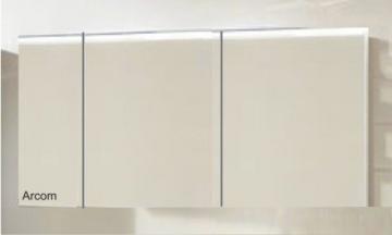 Marlin Bad 3160 - Motion Spiegelschrank A 150 cm Links mit 3 Türen + Aufsatzleuchte