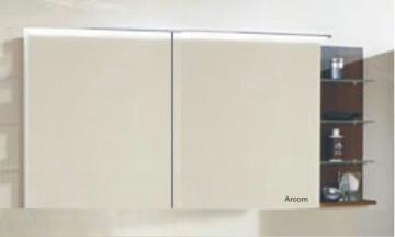 Marlin Bad 3160 - Motion Spiegelschrank A 150 cm mit Regal Rechts + Aufsatzleuchte