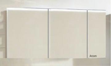 Marlin Bad 3160 - Motion Spiegelschrank A 150 cm Rechts mit 3 Türen + Aufsatzleuchte