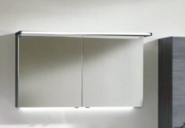 Marlin Bad 3160 - Motion Spiegelschrank B 120 cm Links mit 2 Türen + Beleuchtung im Oberboden