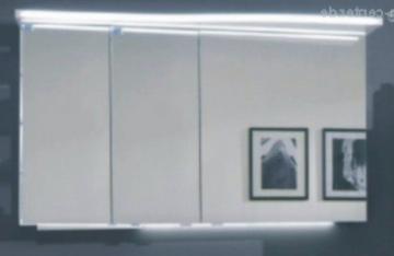 Marlin Bad 3160 - Motion Spiegelschrank B 120 cm Links mit 3 Türen + Beleuchtung im Oberboden