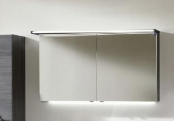 Marlin Bad 3160 - Motion Spiegelschrank B 120 cm Rechts mit 2 Türen + Beleuchtung im Oberboden