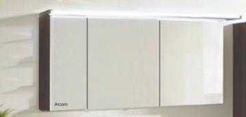 Marlin Bad 3160 - Motion Spiegelschrank B 150 cm Links mit 3 Türen + Beleuchtung im Oberboden