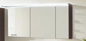 Marlin Bad 3160 - Motion Spiegelschrank B 150 cm Rechts mit 3 Türen + Beleuchtung im Oberboden
