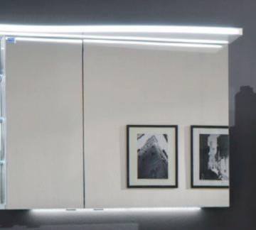Marlin Bad 3160 - Motion Spiegelschrank B 90 cm Links + Beleuchtung im Oberboden