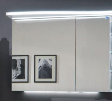 Marlin Bad 3160 - Motion Spiegelschrank B 90 cm Rechts + Beleuchtung im Oberboden