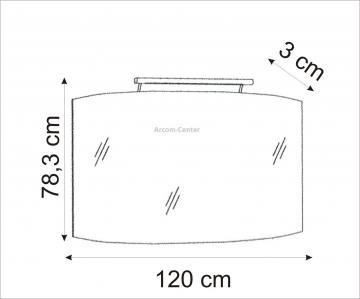 Marlin Bad 3100 - Scala Spiegelpaneel 120 cm