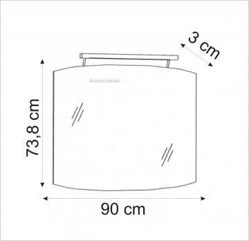 Marlin Bad 3100 - Scala Spiegelpaneel 90 cm