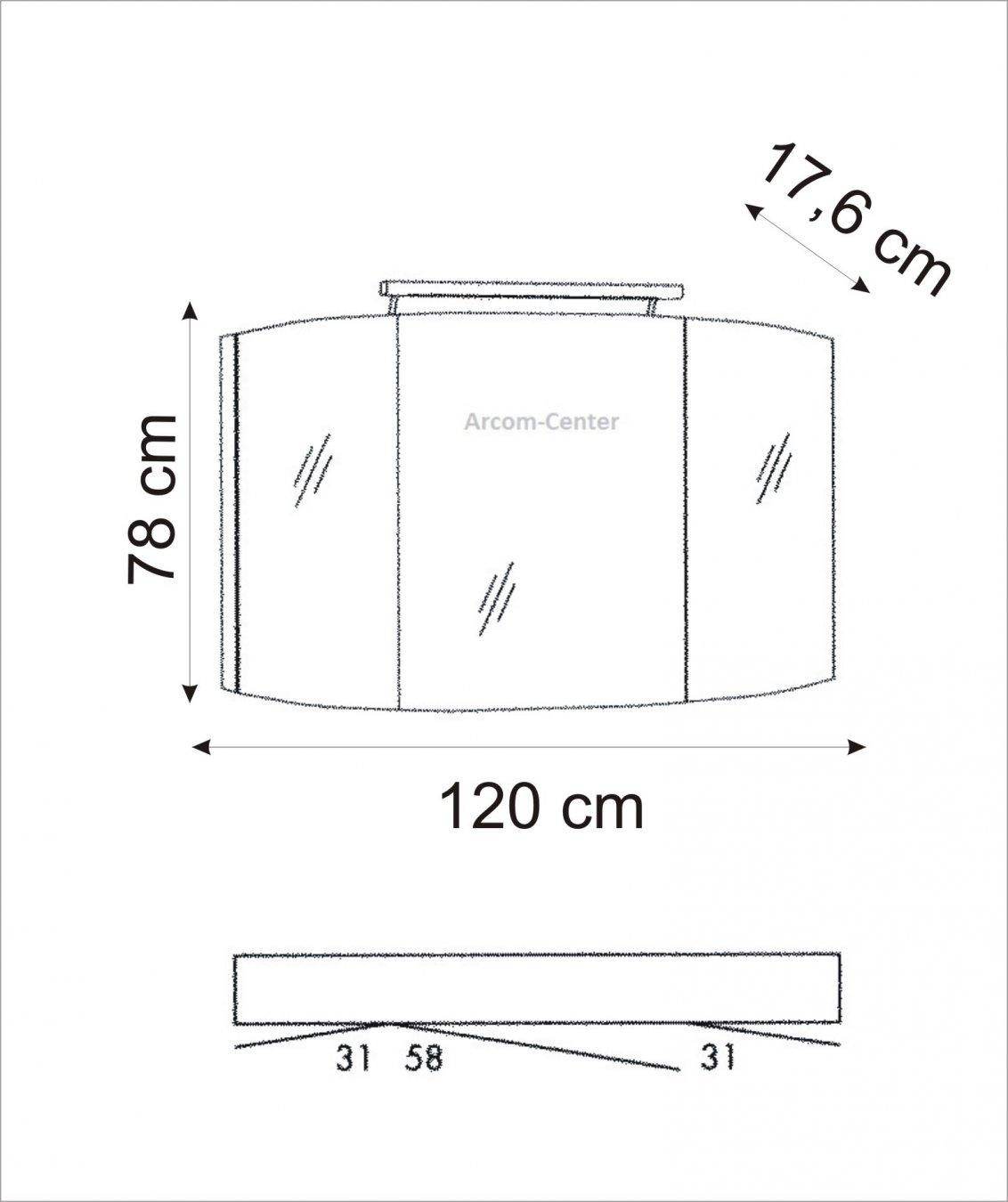 Marlin bad 3100 scala spiegelschrank 120 cm mit led band for Spiegelschrank bad 120 cm