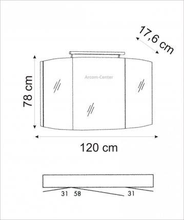 Marlin Bad 3100 - Scala Spiegelschrank 120 cm mit LED-Band