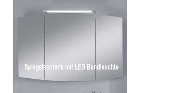 marlin bad 3100 scala spiegelschrank 120 cm mit led band. Black Bedroom Furniture Sets. Home Design Ideas