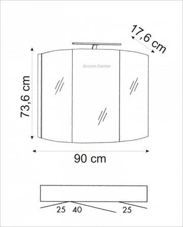 Marlin Bad 3100 - Scala Spiegelschrank 90 cm mit Bogen-Power-LED