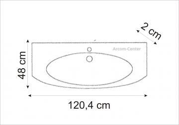 Marlin Bad 3100 - Scala Waschtisch 120 cm