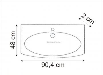 Marlin Bad 3100 - Scala Waschtisch 90 cm
