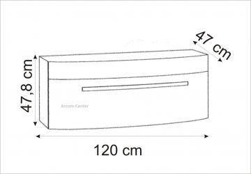 Marlin Bad 3100 - Scala Waschtischunterschrank 120 cm mit 1 Auszug