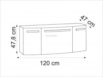 Marlin Bad 3100 - Scala Waschtischunterschrank 120 cm mit 1 Auszug + 2 Türen