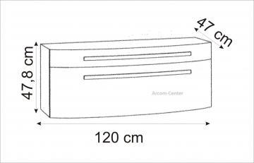 Marlin Bad 3100 - Scala Waschtischunterschrank 120 cm mit 2 Auszügen