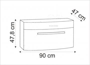 Marlin Bad 3100 - Scala Waschtischunterschrank 90 cm mit 1 Auszug