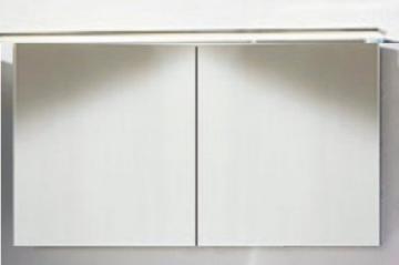 Marlin Bad 3160 - Spiegelschrank A 120 cm mit 2 Türen + Aufsatzleuchte 120 cm