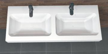 PCON Doppel-Waschtisch D | Keramag iCon | 120 cm