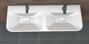 PCON Doppel-Waschtisch F | Keramag MyDay | 130 cm